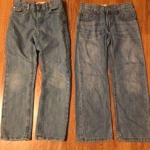 ⭐️2 Pairs Boys Levi's Jeans! Size 7!